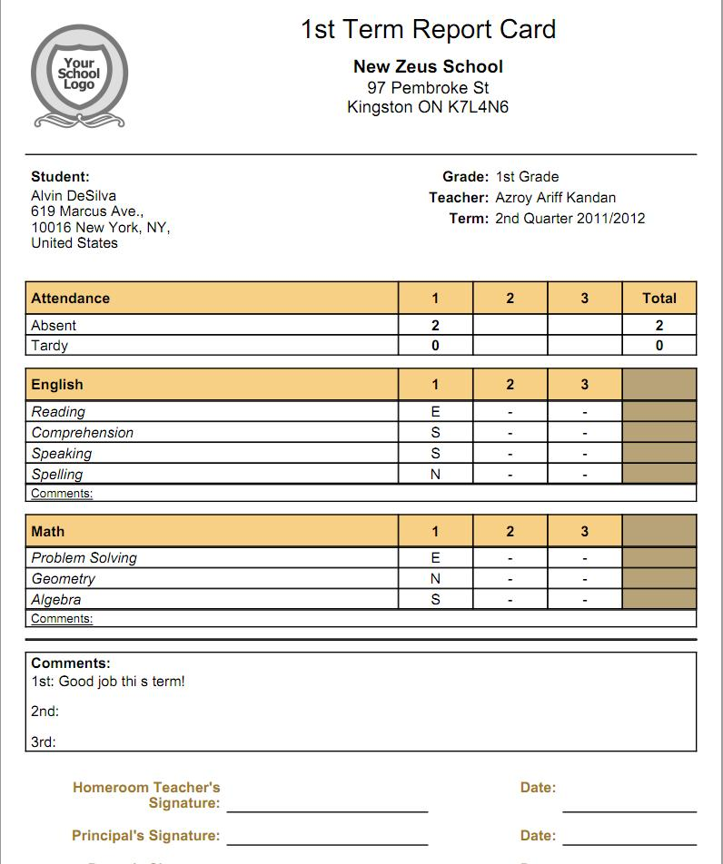 high school report card template word - what is the relationship between gradebooks and report