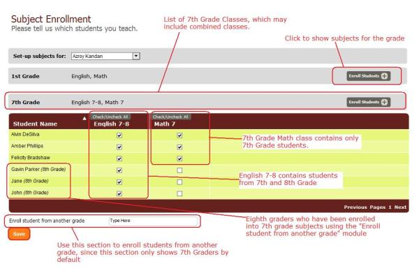 Subject Enrollment Screen