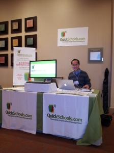Azreen at the QuickSchools booth, ISNA Education Forum 2012