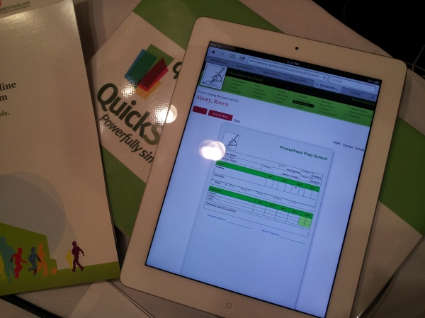 QuickSchools HTML5 on the New iPad
