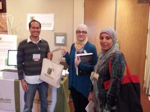 Azreeen presenting a little gift to Daarul Uloom Islamic School