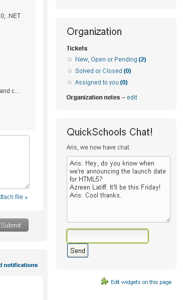 Adding Chat to Zendesk: Real-time web technology with