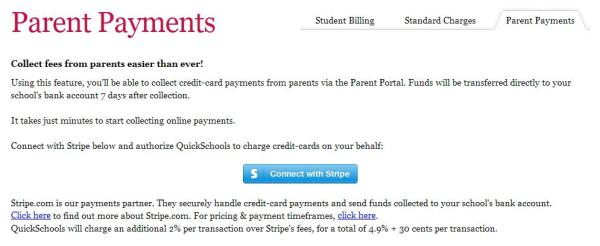 Parent Payments using Stripe