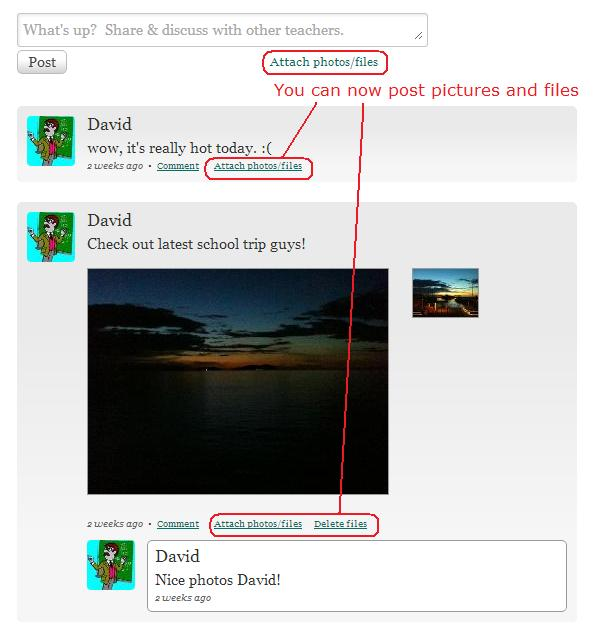 Post Pictures and Files on QuickSchools