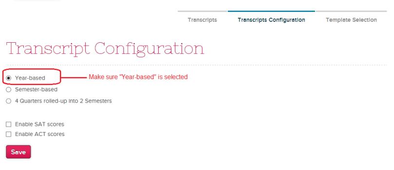 Transcript Configuration