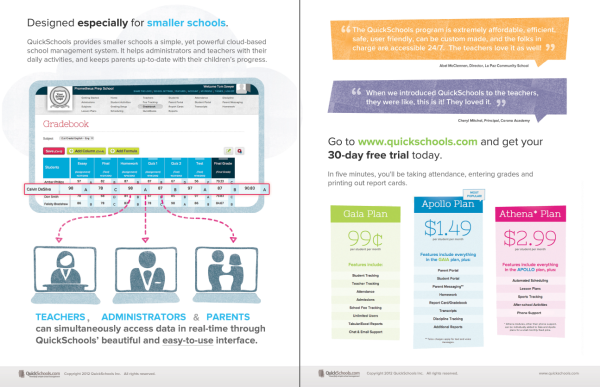QuickSchools Brochure