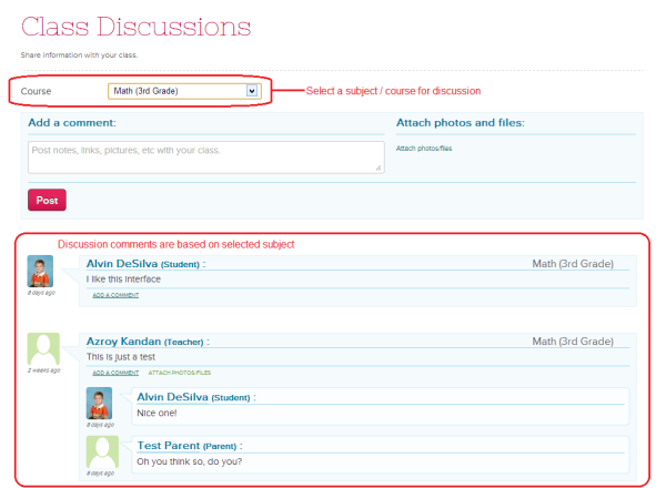 Online Class Discussions for Teachers