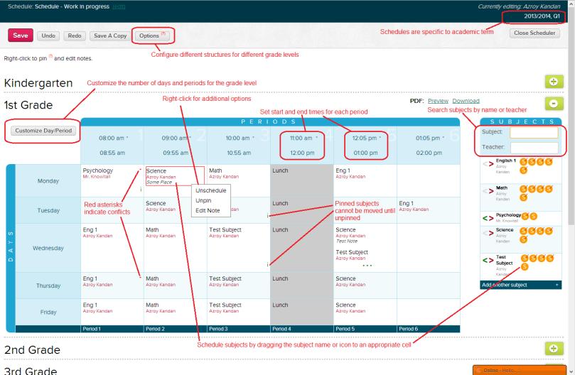 QuickSchools Scheduler