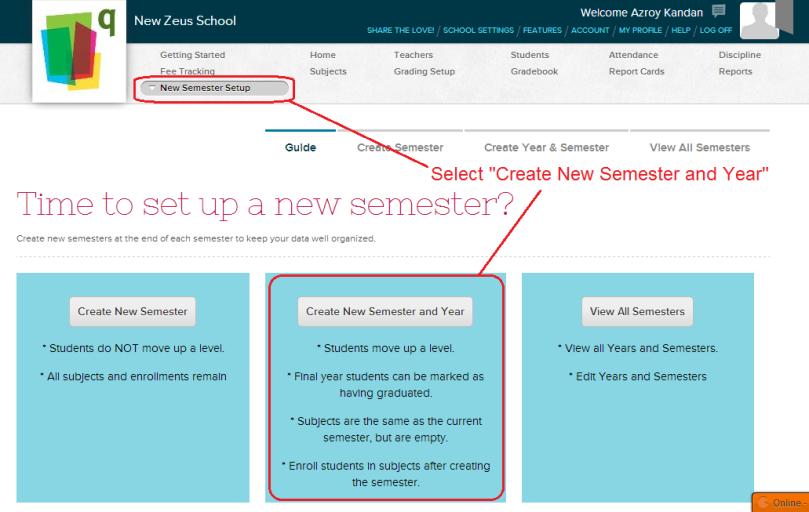 New Semester Setup Guide