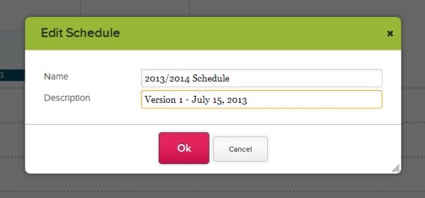 Edit Schedule Name and Description