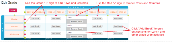 Customize Period Structure: Days and Periods