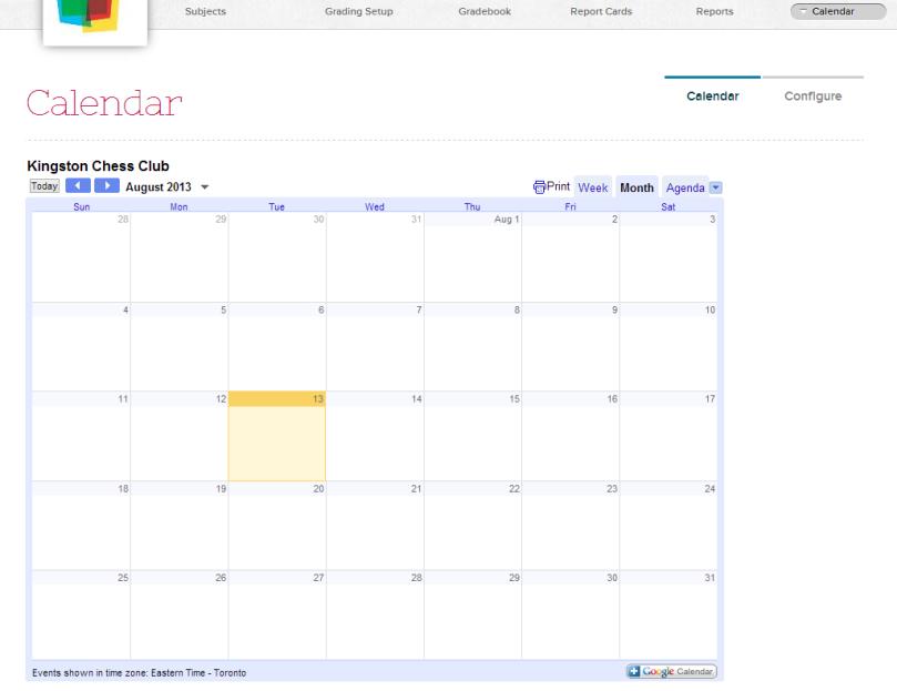 QuickSchools Calendar App