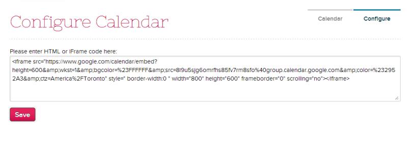 Configuring your Calendar App