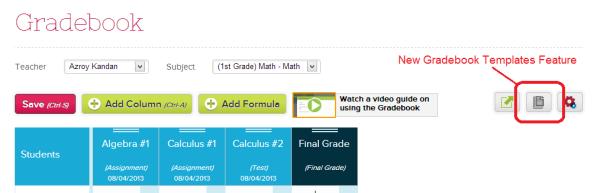 Accessing Gradebook Templates