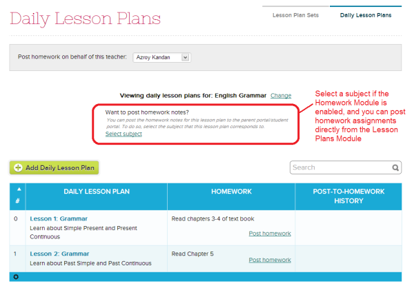 Selecting a Subject for the Lesson Plans
