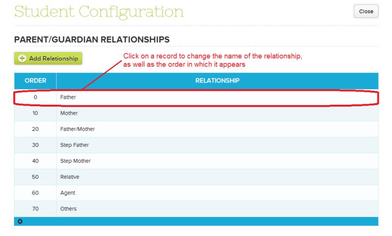 Configure Parent/Guardian Relationship Names on QuickSchools