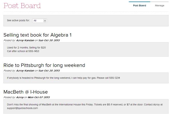 Post Board - Online Bulletin Board