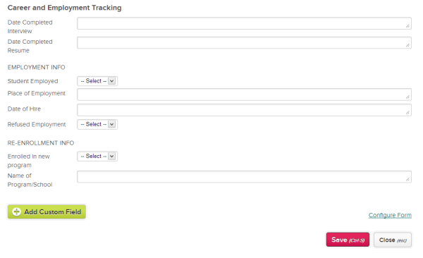 Career Tracking using QuickSchools Custom Fields for Students