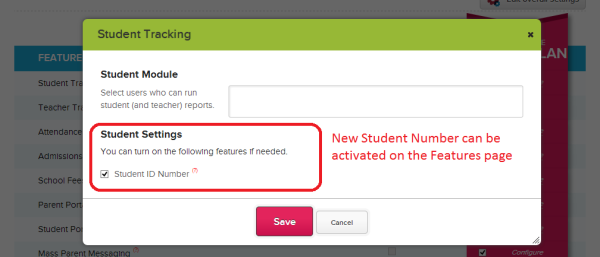 Turn on Auto-Generated Student ID