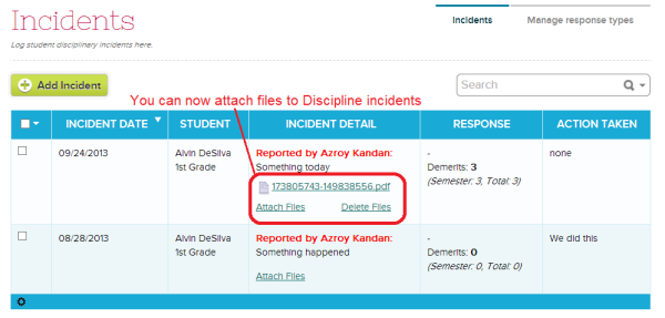 Attach Files to Discipline Incidents