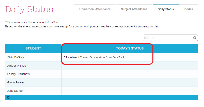Apply Custom Attendance Codes to Students