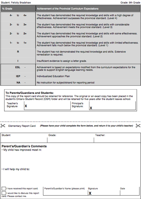 the hudson college report card template school