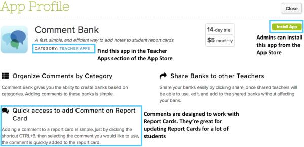 Comments Bank