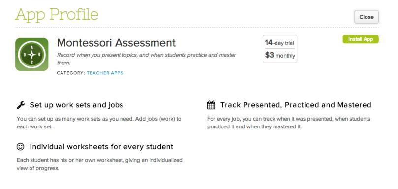 Montessori Assessment App