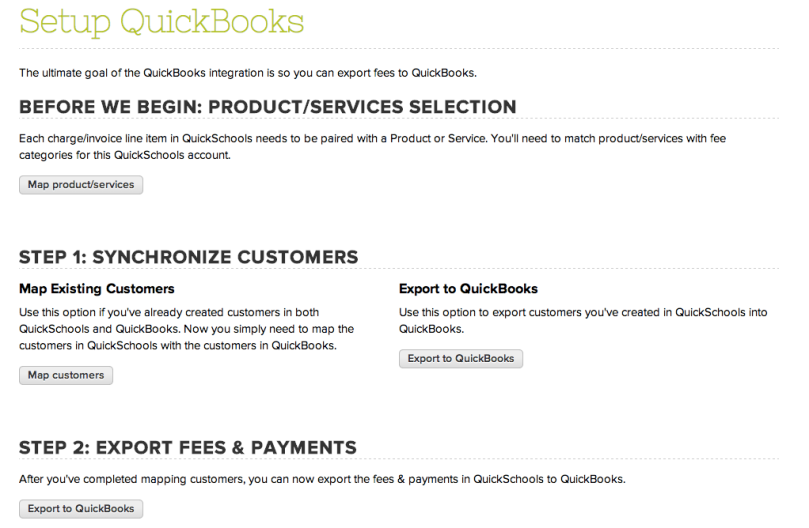 Setting Up QuickBooks Integration