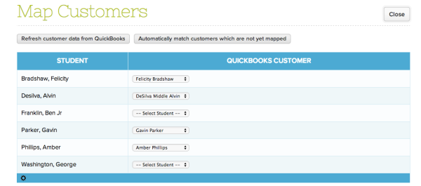 Mapping Customers in QuickBooks