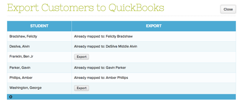 Exporting Customers to QuickBooks