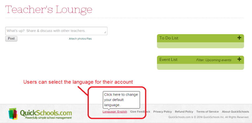 Set Language for your Account