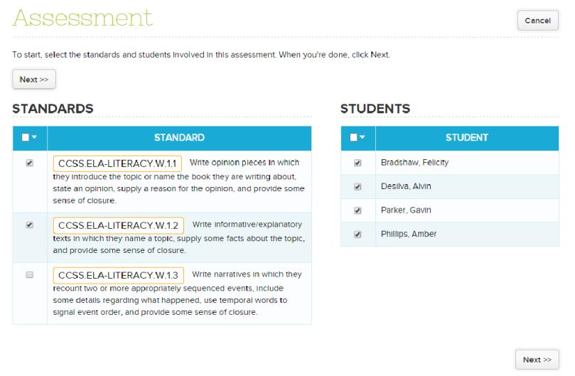 Adding Assessment to the Standards-Based Gradebook