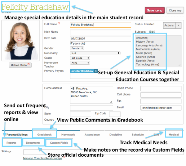 student record system Student records easily manage all enrollment-related activities, including registration methods, learning assessments, and completion of educational objectives let students plan, access courses, and register on any device.