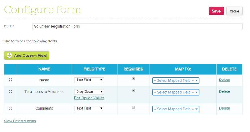 Configure Online Form