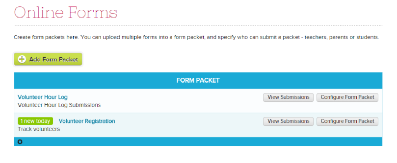 List of Online Forms