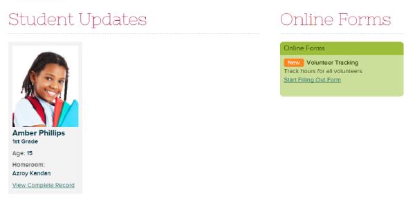 Online Forms on Parent Portal