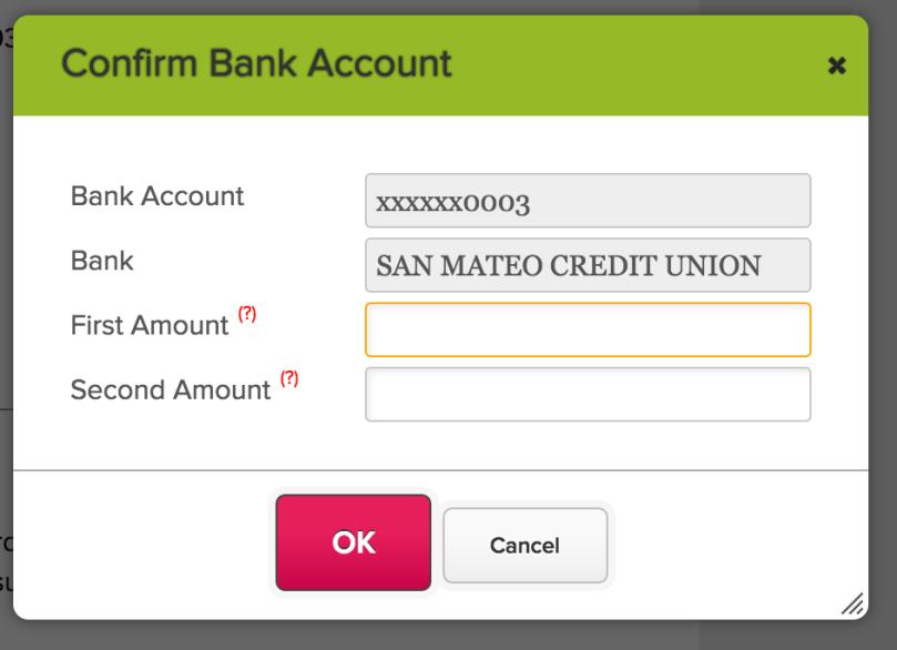Confirm Bank Account (ACH)