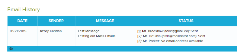 Mass Email Delivery Status After Sending