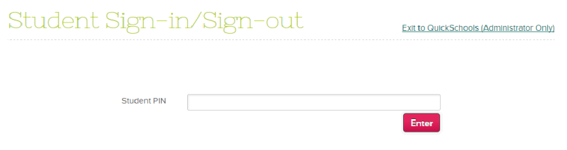 Sign In as Student into the App
