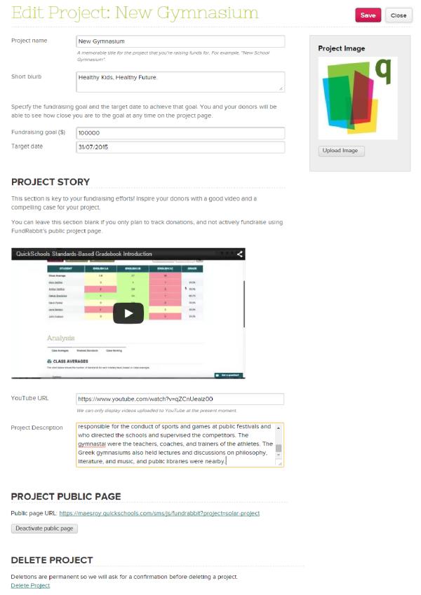Edit Fund Rabbit Project