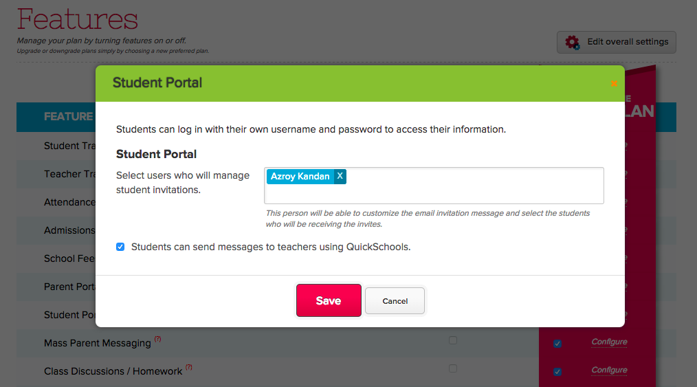 Turn on Private Messaging for Students