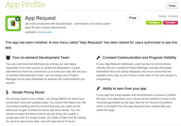"""App Request"" App for Custom Development"