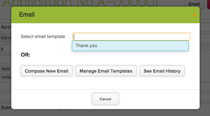 Sending Emails from the QuickSchools Admissions Module