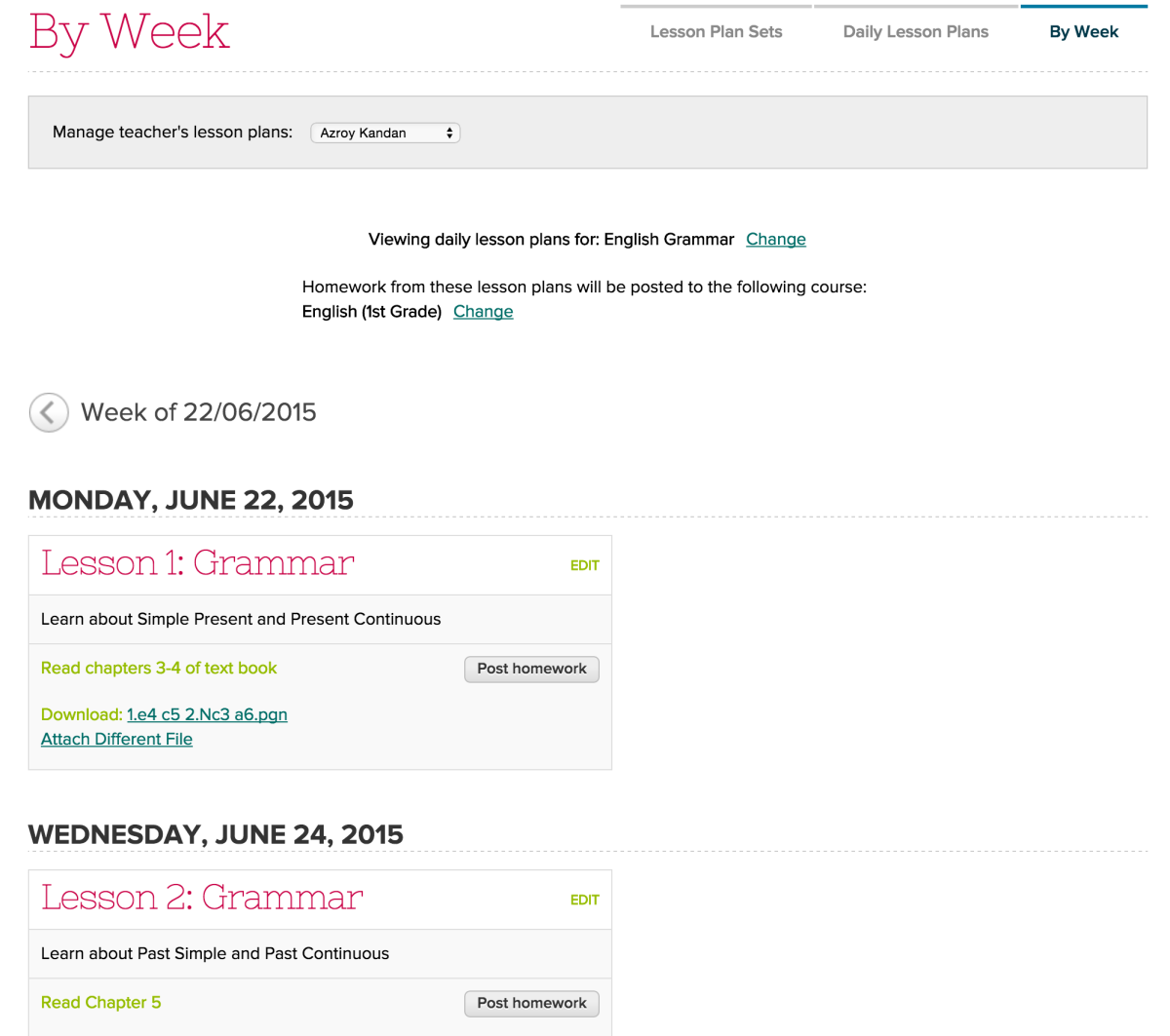 View Lesson Plans by Week