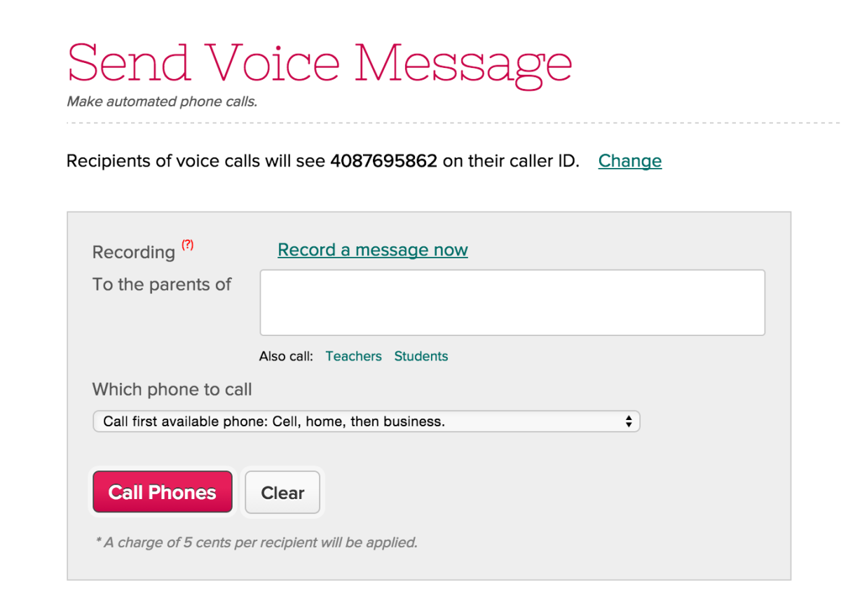 Set Caller ID for Voice Messaging