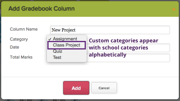 Column and formulas using the new category work the exact same as columns and formulas using your school's categories.