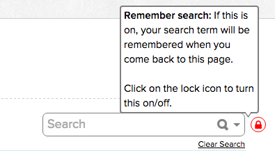 QuickSchools Locked Search