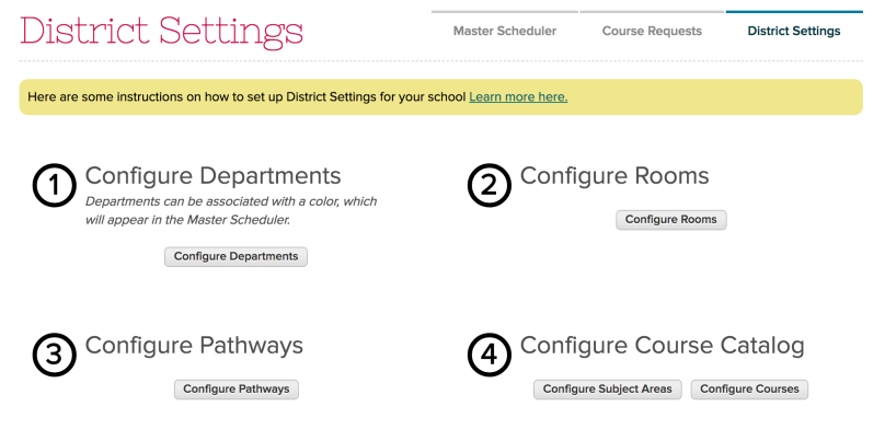 Configure Subject Areas and Courses in your Course Catalog