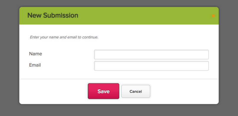 Creating a New Online Form Submission for Unauthenticated User